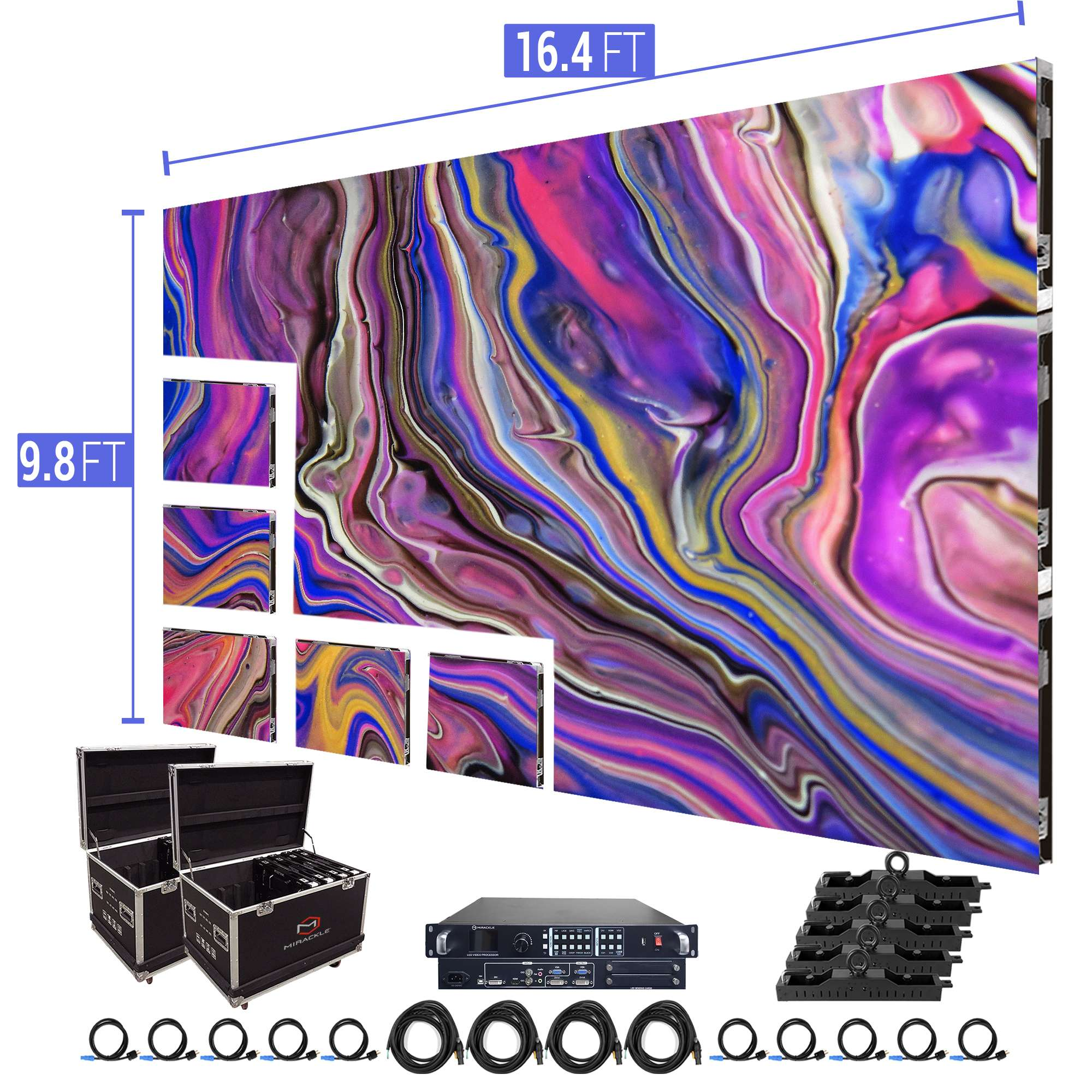 LED Video Wall Outdoor 16.4′ x 9.8′ P3.91mm Turn-key