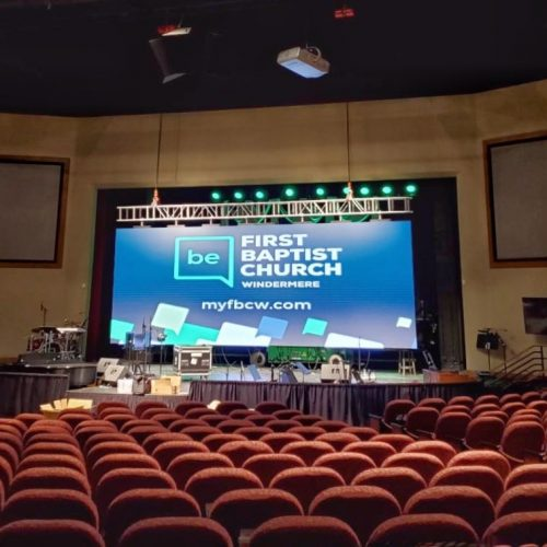 led video wall for churches house of worship big screen